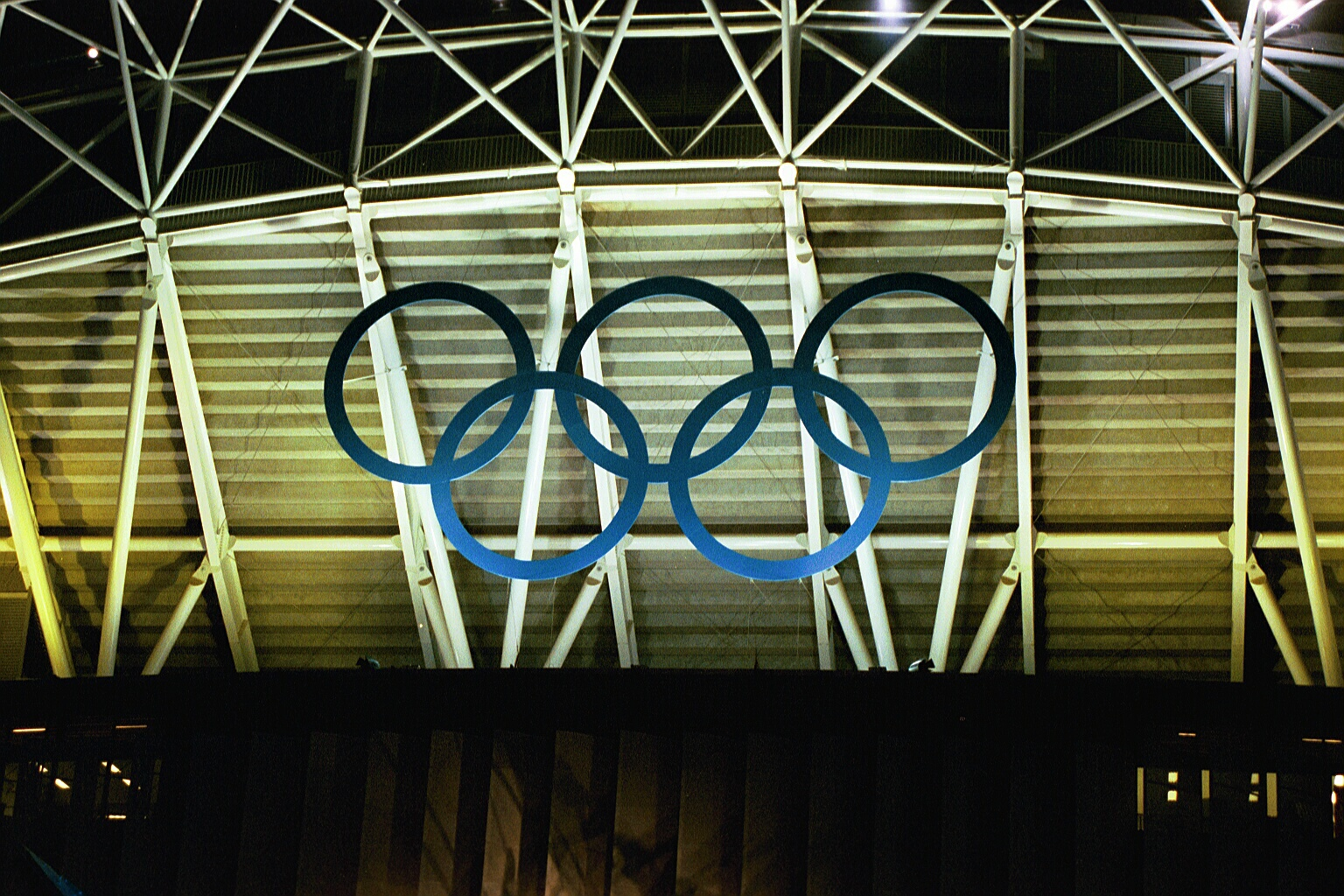 Olympic Rings outside of stadium